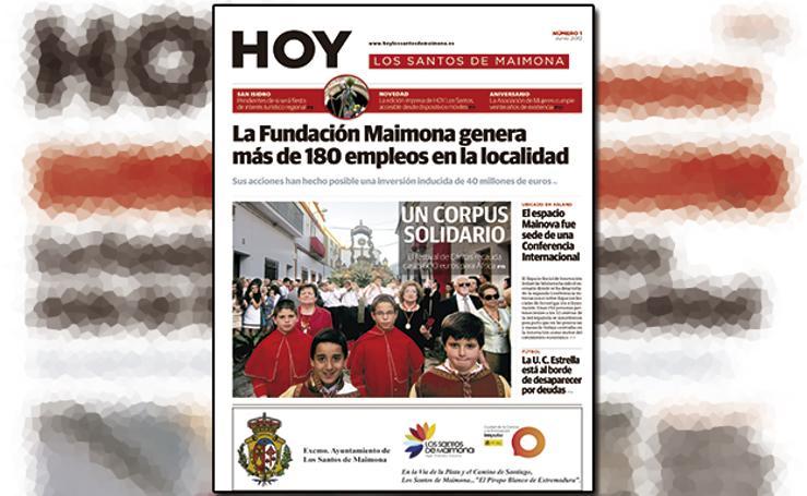 Los Santos de Maimona, portada a portada