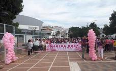 800 personas, según los organización, acudierona la marcha rosa solidaria