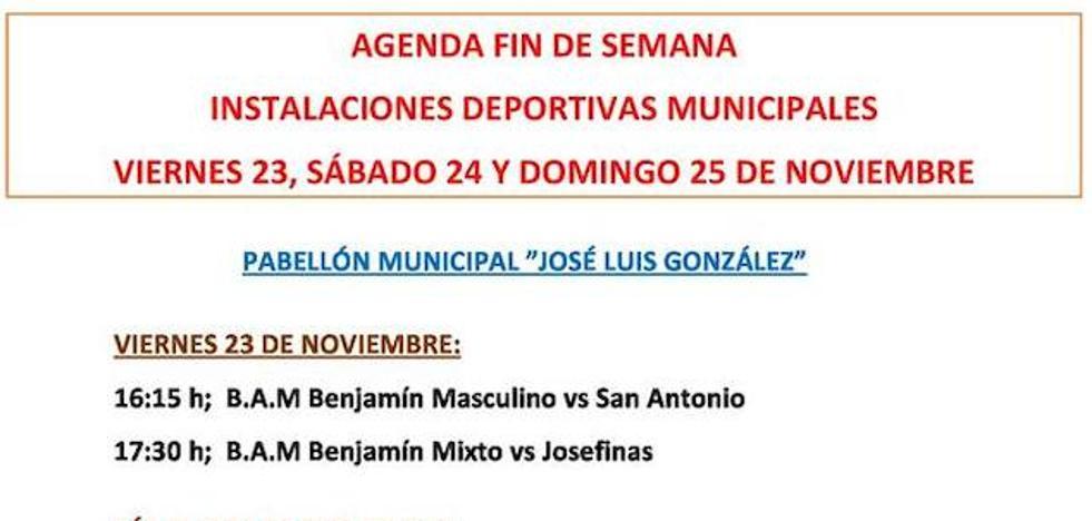Agenda deportiva de Malpartida de Cáceres para el fin de semana