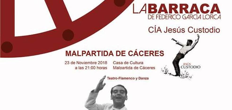La Barraca, de la compañía de Jesús Custodio, continúa este 'Otoño de Teatro' en Malpartida de Cáceres