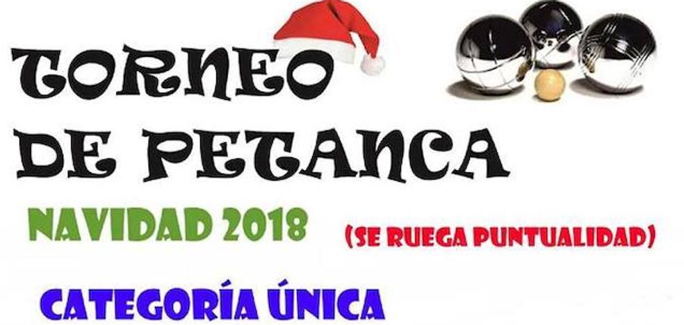 El Torneo de Petanca Navidad 2018 de Malpartida de Cáceres se celebrará el 27 de diciembre