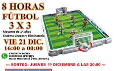 8 horas fútbol 3x3 en Malpartida de Cáceres