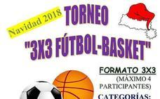 Mañana torneo 3x3 Fútbol-Básket en el pabellón José Luís González