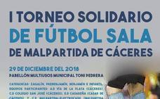 Mañana se celebra el I Torneo Solidario de Fútbol Sala de Malpartida de Cáceres