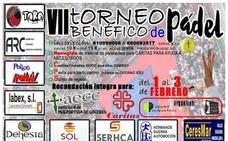 El VII Torneo Benéfico de Pádel se celebrará entre el 1 y el 3 de febrero