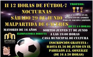 Segunda edición de las 12 Horas de Fútbol-7 Nocturnas el próximo 29 de junio