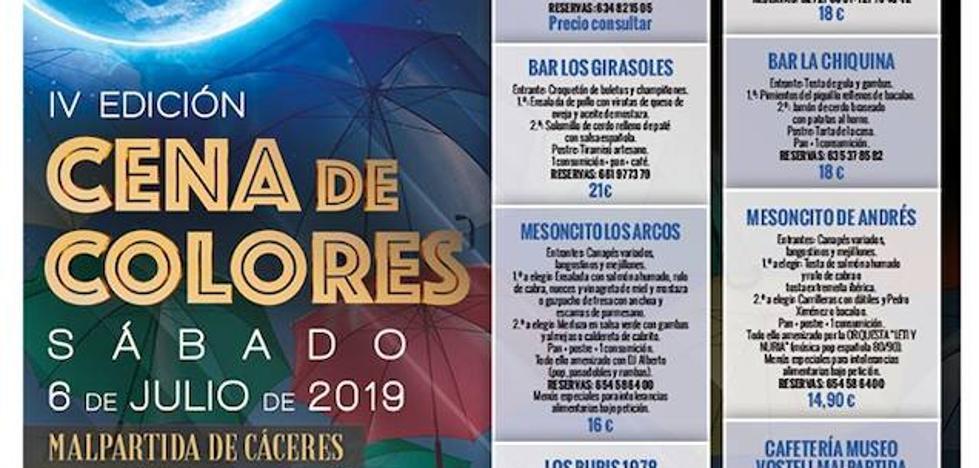Malpartida de Cáceres se prepara para la IV edición de la 'Cena de Colores'