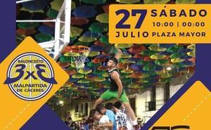 El 27 de julio se celebra la 13ª edición del 3x3 Baloncesto en la Calle de Malpartida de Cáceres