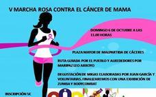 La V Marcha Rosa de Malpartida de Cáceres se celebrará el próximo 6 de octubre
