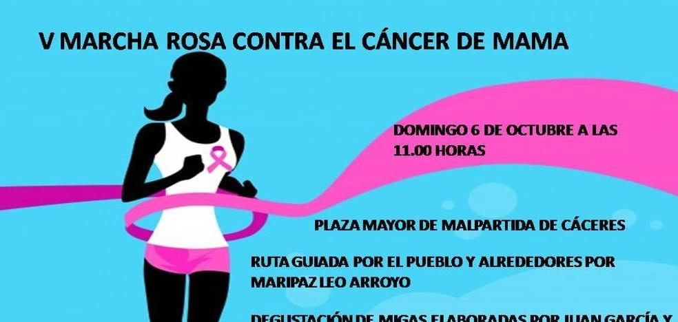 El domingo se celebra la Marcha Rosa de Malpartida de Cáceres