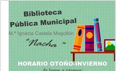 La Biblioteca Pública Municipal de Malpartida de Cáceres cambia al horario de otoño-invierno