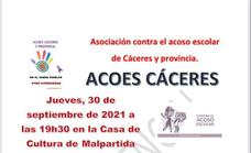 ACOES Cáceres organiza una charla sobre el acoso escolar