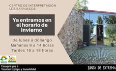 El Centro de Interpretación Barruecos Monumento Natural cambia al horario de invierno