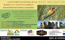 El Centro de Interpretación Barruecos Monumento Natural organiza una ruta para celebrar el Día mundial de las Aves Migratorias