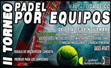 Pádel Malpartida organiza la II edición del Torneo Pádel por Equipos