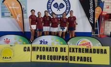 Pádel Malpartida protagoniza una gran actuación en el Campeonato de Extremadura por Equipos Veteranos
