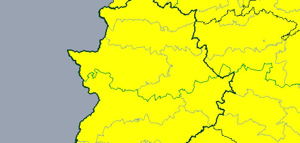 Alerta amarilla por lluvia y fuertes rachas de viento