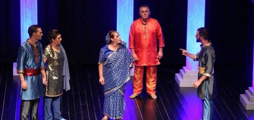 El grupo teatral 'Meaxadas', presente en la fase final de Piornal