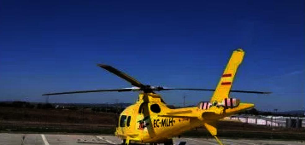 Dos personas resultan heridas de carácter grave en un accidente laboral en Miajadas