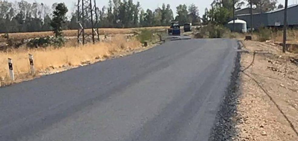 Cortan la carretera que une Miajadas con el Casar por obras