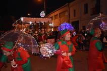 La magia nevada reinó en la Cabalgata de Reyes de Miajadas