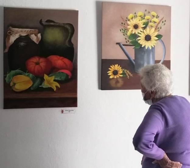 Alonso de Ojeda acoge en una exposición las obras de sus artistas locales