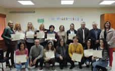 15 alumnas se gradúan en Atención Sociosanitaria a Personas en el Domicilio