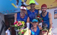Runners de Monesterio apoyan la lucha contra la leucemia en el Zurich Maratón de Sevillla