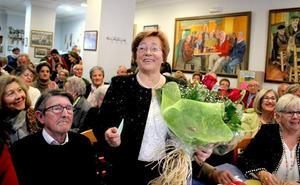 Antonia Matamoros recibe el homenaje de los Pensionistas por el Día de la Mujer