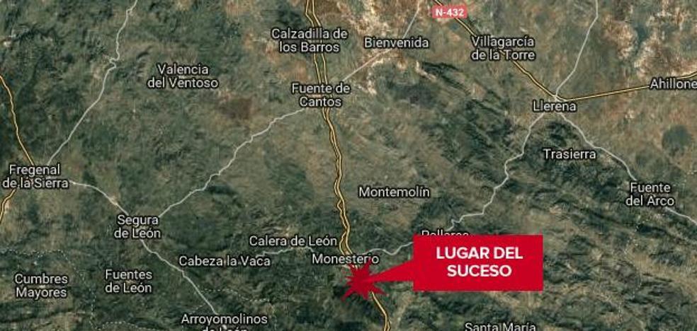 Tres heridos en la colisión de tres vehículos en la A-66, a la altura de Monesterio