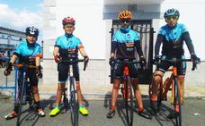 Cuatro lobeznos demuestran su valía en su primera prueba de ciclismo por carretera