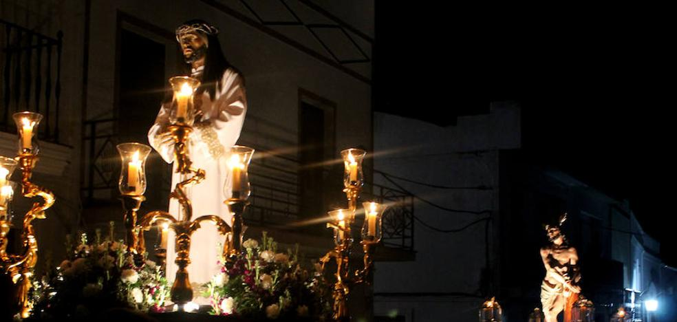 El Señor Cautivo y el Amarrado a la Columna, pendientes del cielo para poder procesionar por las calles de Monesterio