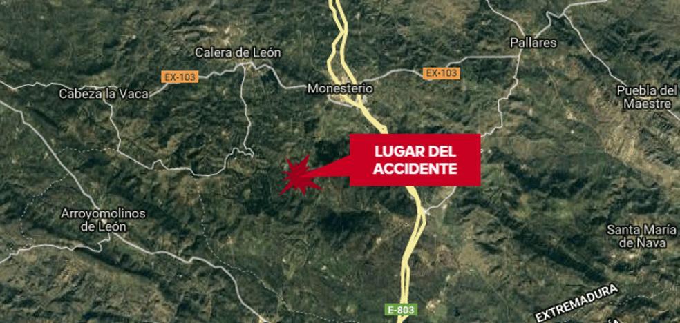 Muere un vecino de Monesterio de 47 años al salirse de la vía en el Camino de Cala