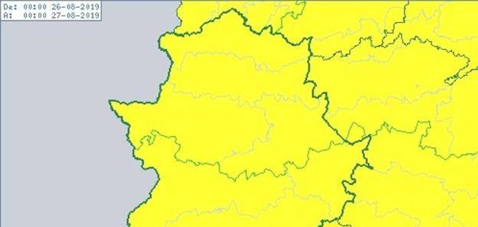 La Aemet activa avisos de nivel amarillo por tormentas esta tarde en toda la región