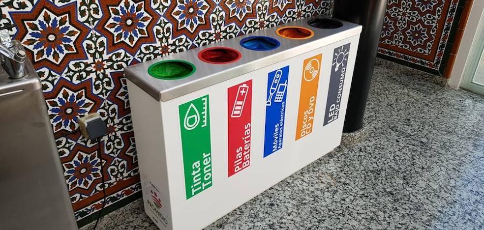 Promedio instala en el ayuntamiento un punto limpio para reciclar cinco tipos de residuos