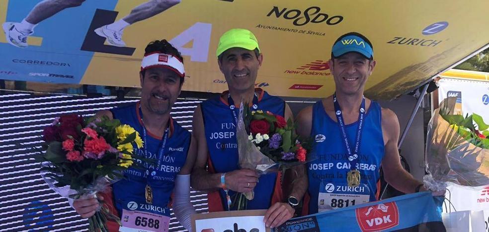 Seis corredores locales apoyarán este fin de semana la lucha contra la leucemia en Bilbao