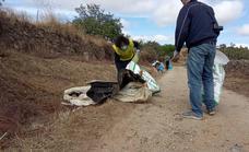 Jornada de limpieza en el Pantano de Tentudía