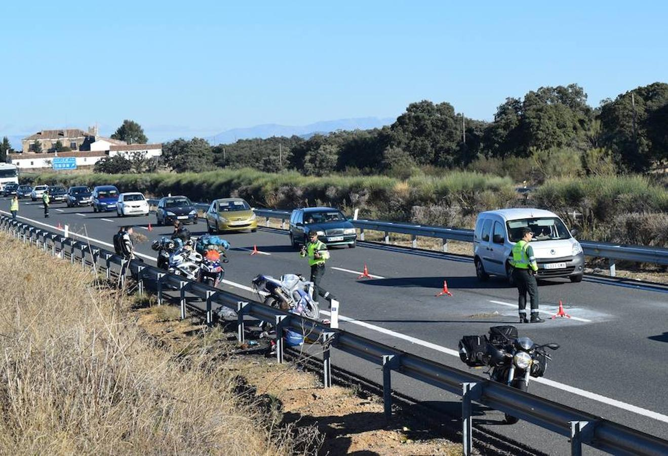 Un motorista fallece en un accidente