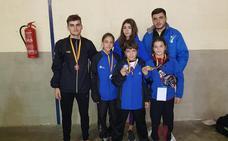 Cuatro medallas para la escuela de taekwondo de Gabriel Amado en Ciudad Real