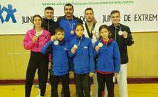Ocho medallas para el Club Gabriel Amado en el Campeonato de Extremadura de Taekwondo