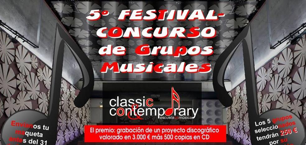 El lunes termina el plazo para participar en el 5º Concurso de Grupos Musicales
