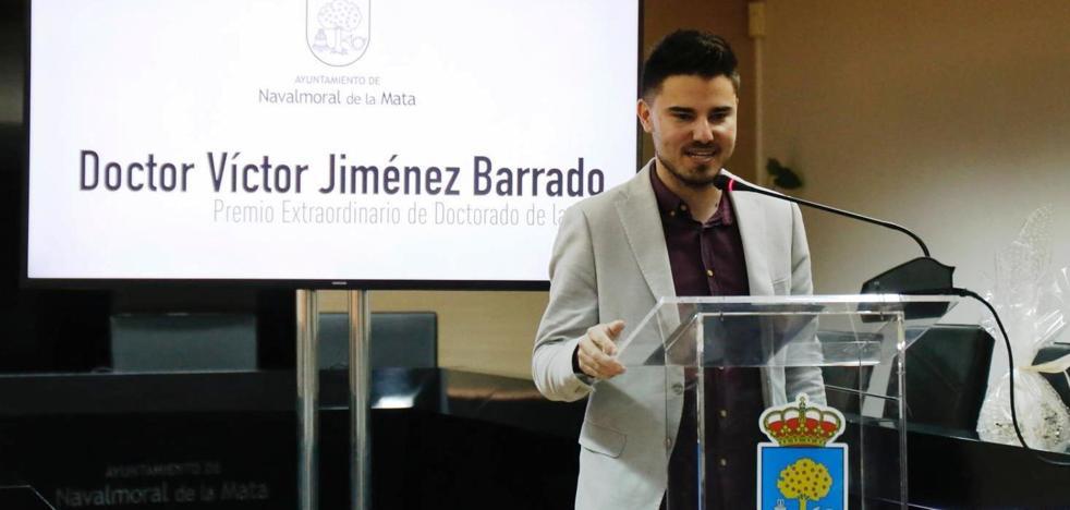 Víctor Jiménez Barrado, Premio Extraordinario de Doctorado por la Universidad de Extremadura