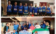 Miguel Ángel Godino completa su maratón número 25 en Sevilla