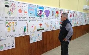 La Hermandad de Donantes de Sangre expone los dibujos finalistas del certamen escolar