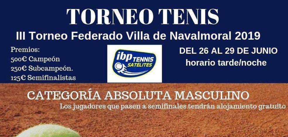 Intensa actividad del Club de Tenis y Pádel Navalmoral la próxima semana