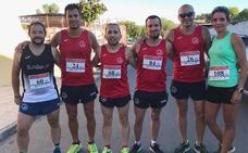 Seis corredores de Navalmaratón suben al Cerro Canalizo, en Malpartida de Plasencia