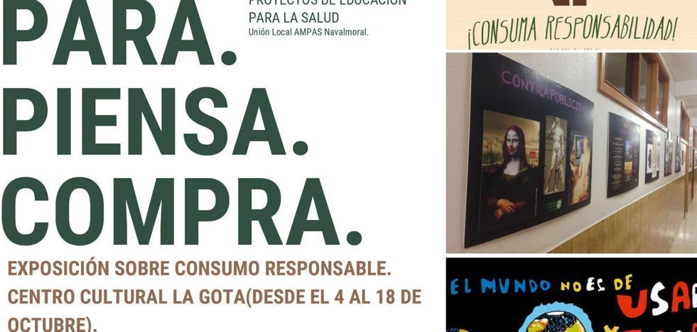 'Para. Piensa. Compra. ¡Consuma responsabilidad!'