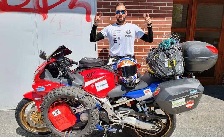 La vuelta al mundo en moto, por etapas, de Sergio Martín