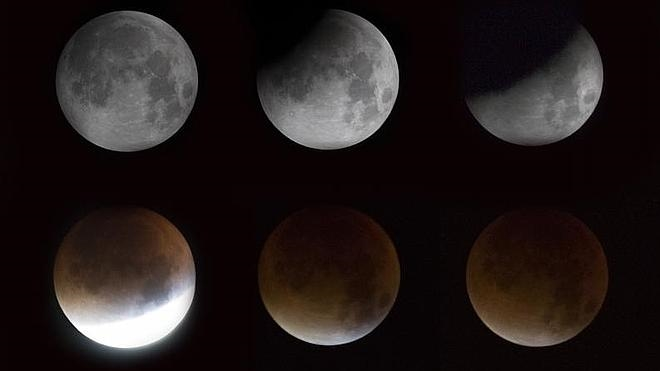 Eclipse y superluna, vistos desde Extremadura