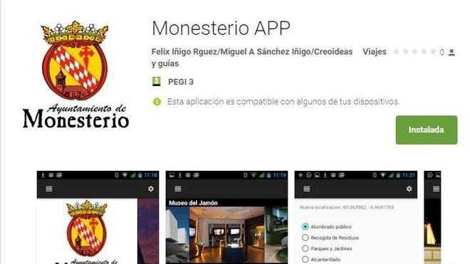 Ya está disponible en Google Play la aplicación de Monesterio